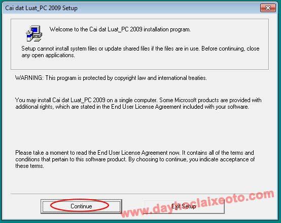 3 - Phần mềm học bằng lái xe B2 - Học luật PC (hướng dẫn cài đặt)