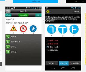 on thi ly thuyet tren smartphone - Lý thuyết lái xe ô tô hạng B2 và những điều cần biết