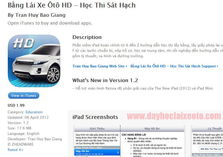 ung dung hoc bang lai xe hd - 5 ứng dụng học lái xe ô tô tốt nhất trên iPhone và Android