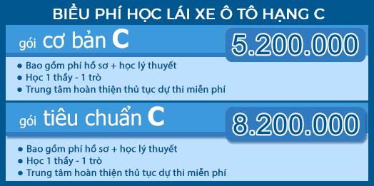 hoc phi hoc lai xe bang C - Học lái xe ô tô hạng C, đào tạo lái xe bằng C ở Hà Nội