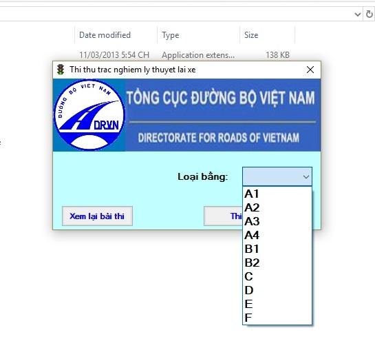 phần mềm thi bằng lái xe b2